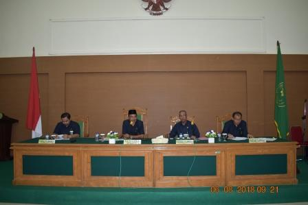 Manna Religious Court Participates in Coordination Meeting of Religious Courts in the Bengkulu High Religion Court